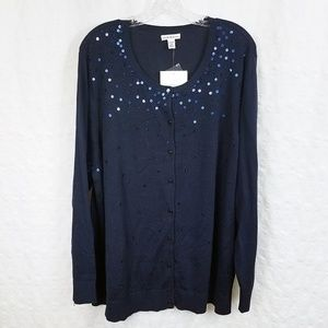 Plus Size * NWT Sequined Women's Cardigan Sweater